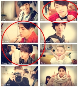-σ there are Seungcheol, Doyoon and also Yoosang (the rumoured member of SEVENTEEN) another are Nu'est.